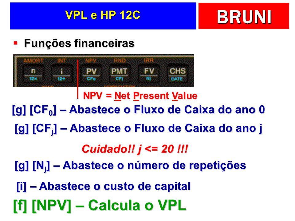 [f] [NPV] – Calcula o VPL